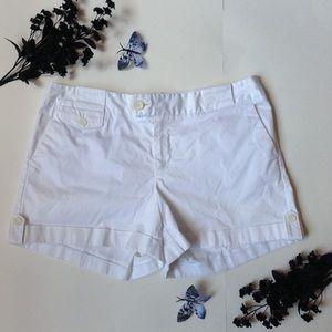Banana Republic Coin Roll Cuffed White Shorts